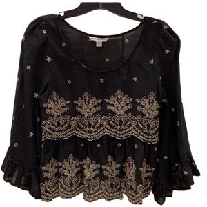 American Eagle Embroidered Top XS